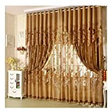 France Wispun 1PC 2x2.7m Brown High Finished Peony Curtain Bedroom Curtain Screen Home Curtain Decor
