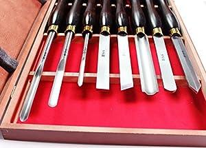 8 HSSProfiDrechselmesser DrechseleisenSatz Set Drechseln Beitel Drechselbank  BaumarktKundenbewertung und Beschreibung