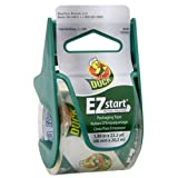 Duck Brand EZ Start Packaging Tape with Dispenser, 1.88-Inch x 22.2-Yard Roll, Single Roll, Clear (393185)