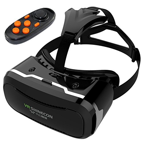 3D VR Glasses, Tsanglight 3D Virtual Reality Headset with Remote Control[Rechargeable] for 4.5-6.0inches IOS iPhone 7 6S Plus/Android Samsung Galaxy S7 S6 Edge Plus/PC Smartphones for 3D Movie/Games
