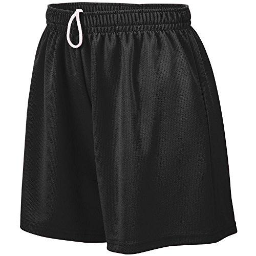 Augusta Sportswear Girls' WICKING MESH SHORT L Black