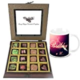 Chocholik Luxury Chocolates - Dark And Best Collection Of Beautiful Chocolates With Birthday Mug