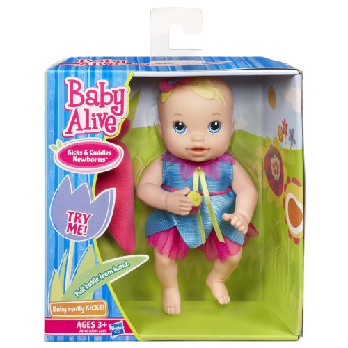 Imagen de Baby Alive patadas y Cuddles recién nacidos caucásicos - Muñeca Ojos azules