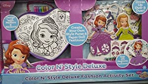 Disney Sofia The First Color N' Style Deluxe Fashion Activity Set