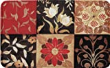 "Sonoma Memory Foam Mat by Home Dynamix 20"" X 32"", 6 Squares with Red Flowers Design"