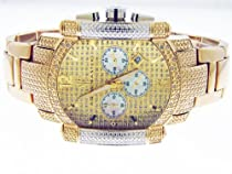 Aqua Master Yg Face 22 Diamonds Stainless Steel Band Watch Yellow Gold