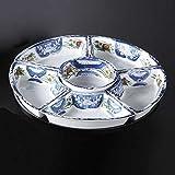 オードブル皿 回転オードブル 陶器 古伊万里 尺二 和食器 美濃焼