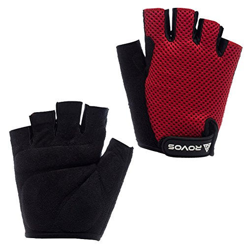 rovos-mens-sports-professional-training-biking-riding-gloves-cycling-accessariesreds
