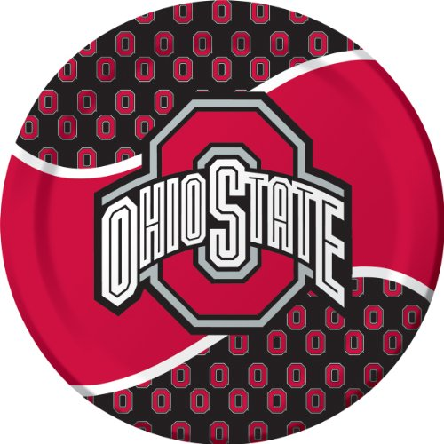 Creative Converting Ohio State Buckeyes Dinner Paper Plates (8 Count)