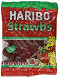 Haribo Strawberries Bag 160 g (Pack of 12)