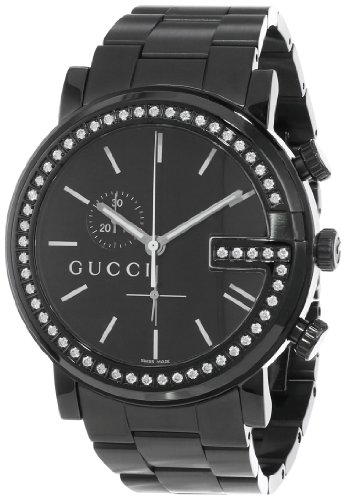 Gucci Men's YA101340 G-Chrono Black PVD with Diamond Case Watch