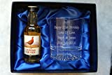 Personalised Alaska Crystal Glass & Famous Grouse Whisky in Silk Gift Box Dad/Best Man/Wedding/40th/50th/60th Birthday Gift