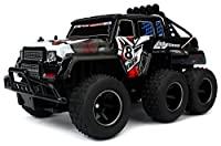 Velocity Toys Speed Wagon 6X6 Remote Control RC High Performance Truck, 2.4 GHz Control System, Big Scale 1:10 Size Ready To Run (Colors May Vary)