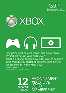 Xbox 360 Live 12 Month Subscription Card Refresh - Standard Edition