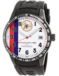 Haurex Italy Men's BC300UW2 Red Arrow White Dial Black Rubber Tachometer Watch