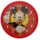 Disney Wall Clock 25cm Round Kids Room - Mickey Mouse Clubhouse