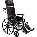 Drive Medical Viper Plus GT Full Reclining Wheelchair, Desk Arms, 20-Inch Seat Width