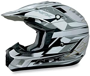 AFX FX-17 Graphics Helmet , Size: XL, Primary Color: White, Helmet Type: Offroad Helmets, Helmet Category: Offroad, Distinct Name: Pearl White Multi, Gender: Mens/Unisex 0110-3011