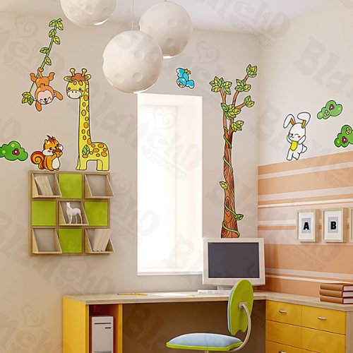 Giraffe Friends - Large Wall Decals Stickers Appliques Home Decor