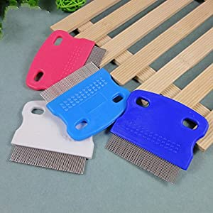 {Factory Direct Sale} Durable Pet Dog Puppy Cat Flea Cleaning Comb Grooming Brush Tool Random Color - Christmas Gift