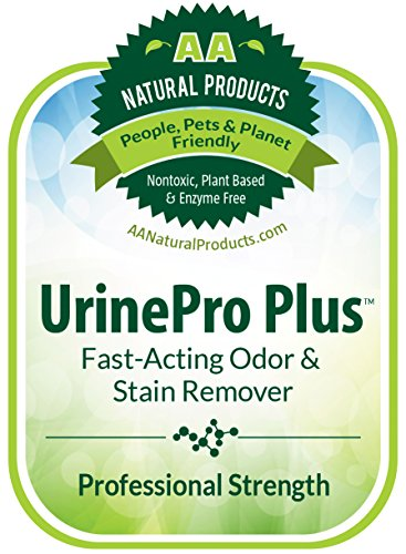 UrinePro Plus Concentrate (2 Oz Makes 1 Quart) Carpet, Hardwood & Car Care Formula to Remove Pet Stains & Odors Caused by Dog and Cat Urine, Vomit, Feces, Blood, Beer, Wine, Coffee and More.