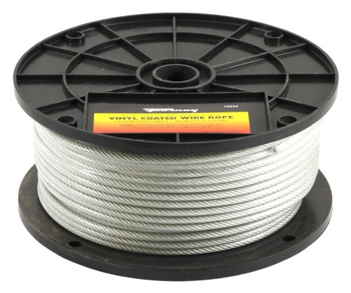 Forney 70452 Wire Rope, Vinyl Coated Aircraft Cable, 250-Feet-by-1/8-Inch thru 3/16-Inch (Steel Wire Rope compare prices)