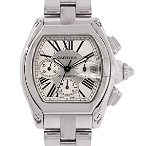Cartier Roadster Chronograph swiss-automatic silver mens Watch W62019X6 (Certified Pre-owned)