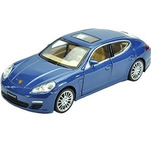Fahrzeuge Spielzeug Fertigmodell Modellauto 1:32 Porsche Panamera Blau Diecast Modellauto