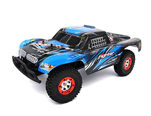 Zerospace Keliwow 1/12 Off-road Car 4WD 2.4G Remote Control RC Car RTR Fighter-1 with Two Car Shell Red and Blue (Rc Gas Powered Trucks compare prices)