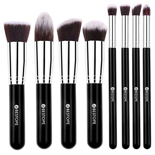 [Update Version] BESTOPE Top class Make-up Brushes Set Cosmetics Artificial Kabuki Make up Brush Basis Mixing Blush Eyeliner Face Powder Make-up Brush Package