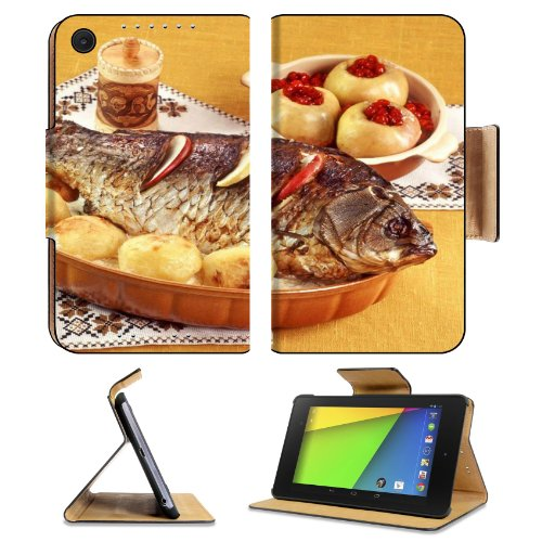 Cooked Fish Recipe Side Dish Asus Google Nexus 7 FHD II 2nd Generation Flip Case Stand Magnetic Cover Open Ports Customized Made to Order Support Ready Premium Deluxe Pu Leather 8 1/4 Inch (210mm) X 5 1/2 Inch (120mm) X 11/16 Inch (17mm) Luxlady Nexus