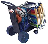 Rio Brands Wonder Wheeler II Wide Beach Cart