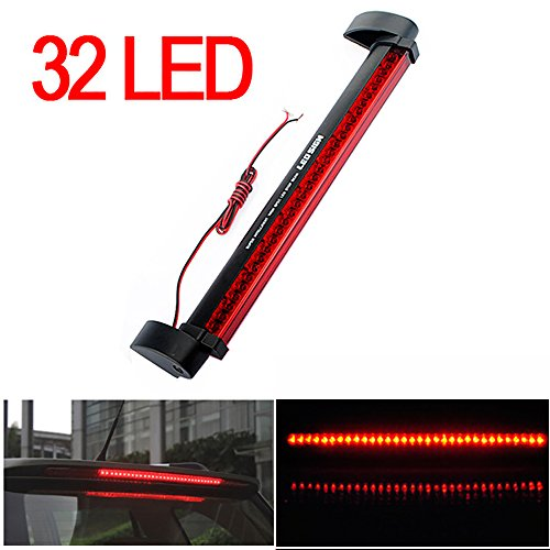 CHAMPLED® Red 32 LED DRL Car Truck Emergency Beacon Lamp Light Bar Hazard Strobe Warning For FORD CHRYSLER CHEVY CHEVROLET DODGE CADILLAC JEEP GMC PONTIAC HUMMER LINCOLN BUICK (Gmc Sierra 1500 3rd Brake Light compare prices)