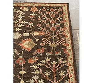 Amazon Com Pottery Barn Agra Rug Espresso Area Rugs