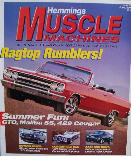 Hemmings Muscle Machines #21 [ Vol. 2, Issue 9, June 2005 ] Ultimate All-American Performance Car Magazine (Ragtop Rumblers! Summer Fun: GTO, Malibu SS, 429 Cougar, Vol. 2 Issue 9) American Ragtop