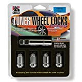 "Gorilla Automotive 21631SD Small Diameter Wheel Locks (12mm x 1.50"" Thread Size)"