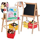 Deluxe Wooden Easel with Paper Roll