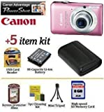 51mherRpxnL. SL160  PowerShot SD1300 IS: Canon PowerShot SD1400IS 14.1 MP Digital Camera with 4x Wide Angle Optical Image Stabilized Zoom and 2.7 Inch LCD (Pink)