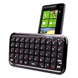 DURAGADGET Clavier Bluetooth compatible HTC Sensation, Wildfire, HD7, 7 Pro, Desire HD, One X, Radar, One S, One V, Desire C, HTC Windows Phone 8X et 8Spar Duragadget