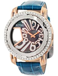Ritmo Mundo Women's D204/1 SS RG Diamond Persepolis Dual-Time Orbital Case Quartz Watch