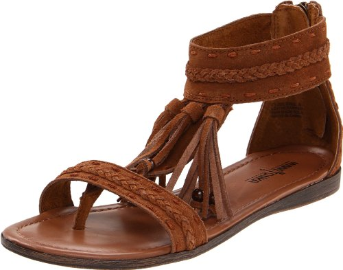 Minnetonka Women's Belize Passport Collection Sandal,Brown,9 M US