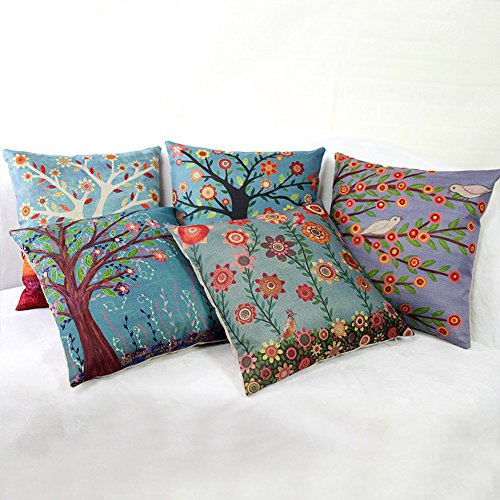 Sunlightsell The Tree of Life Cotton Linen Square Decorative Fashion Throw Pillow Cases (BB)
