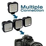 Deluxe LED Video Light + Video Stabilizer Kit For Nikon Df D3200 D5200 D5300 D5100 D3300 D3100 D7000 D90 D300s D3s D800 D610 Includes Video Bracket Action Stabilizing Handle + Deluxe LED Video Light Kit w/ Support Bracket + 2 Li-Ion Batteries + Charger +