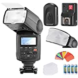 Neewer® NW680/TT680 Speedlite Flash E TTL *High-Speed Sync* Camera Flash Kit for Canon 5D MARK 2 6D 7D 70D 60D 50D 600D/T3i 550D/T2i and other CANON DSLR Cameras,includes(1)NW680/TT680 Flash+(1)Universal Mini Flash Bounce Diffuser Cap+(1)35-piece Color Gel Filters+(1)Flash Diffuser+(1)16 Channels Wireless Remote Flash Trigger+(4)LR Battery