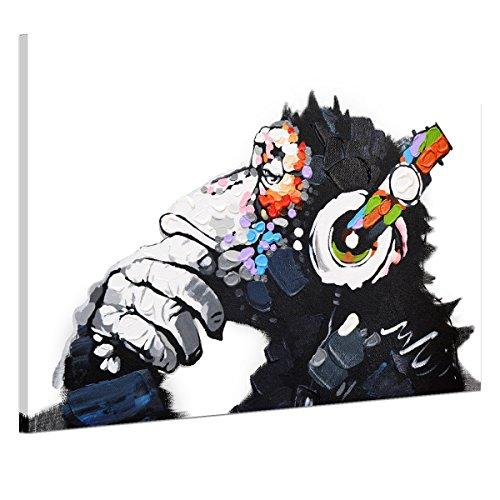 UQ Impression sur toile 1 partie Tableau Poster Grand Format 75x50 Chimpanzé Prêt à accrocher