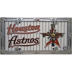 2 , Quartz Clocks, on,  ,HOUSTON ASTROS, BASEBALL CLUB, , Metal Sign, on, Metal,...