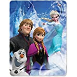 "The Northwest Company Disneys Frozen ""A Frozen Day"" Fleece Throw Blanket, 46-Inch By 60-Inch"