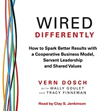 Wired Differently: How to Spark Better Results with a Cooperative Business Model, Servant Leadership, and Shared Values (       UNABRIDGED) by Vern Dosch Narrated by Clay Jenkinson