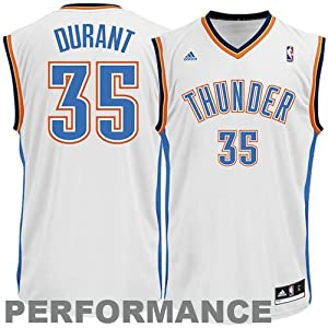 NBA Oklahoma City Thunder Kevin Durant Youth 8-20 Replica Home Jersey, Medium, White