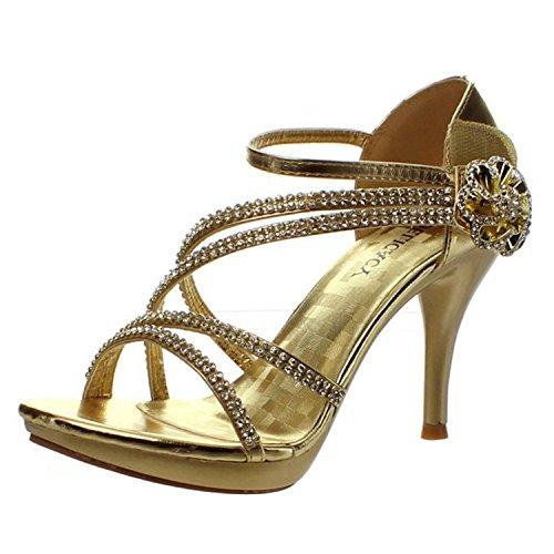 Gold Womens Sandals